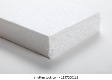 white foam board close up, packaging material.
