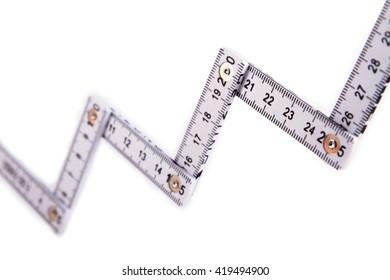 white folding meter