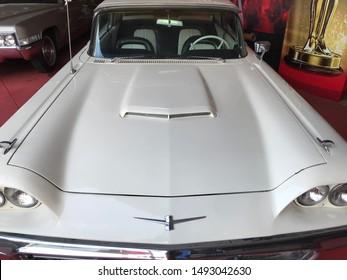 1960's White Ford Thunderbird at Angkut Museum Batu Malang East Java Indonesia, September 1st, 2019