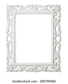 White frame with clipping path.