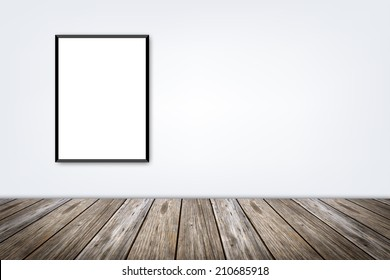 white frame on a wall and floor
