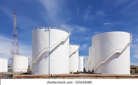 White fuel storage tank against blue sky & Fuel Storage Tank Images Stock Photos u0026 Vectors | Shutterstock