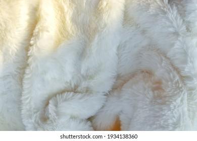 White Fur Background, Sunlight Shining Beautiful Backdrop Design