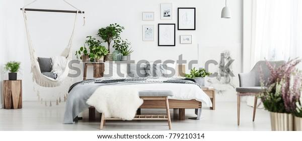 White Fur On Bench Spacious Natural Stock Photo Edit Now 779210314