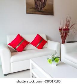 white furniture sofa set in living room