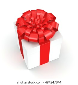 White gift box, 3D illustration