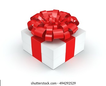 White gift box, 3D illustration