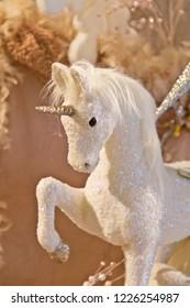 White glitter unicorn