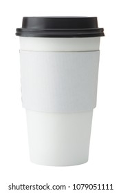White To Go Coffee Cup with Lid