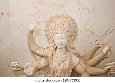 White godess statue, Maharashtra, India.