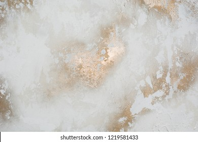 White with gold concrete wall texture or grunge style background