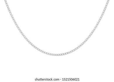 a white  golden chain necklace