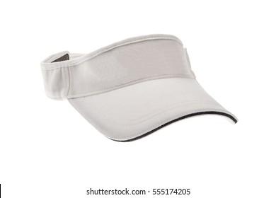 White golf visor for man or woman on white background