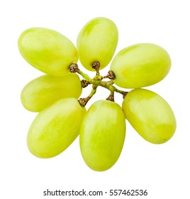 white grapes isolated