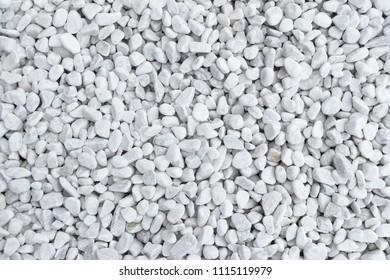 White gravel background