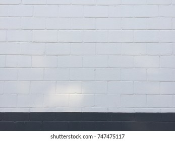 White and gray brick wall background pattern texture
