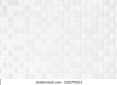 White or gray ceramic wall and floor tiles abstract background. Design geometric mosaic texture for the decoration bedroom. Simple seamless pattern for backdrop advertising banner poster or web.