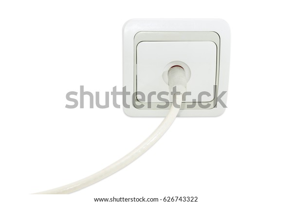 White Gray Domestic Tv Aerial Wall Stock Photo (Edit Now