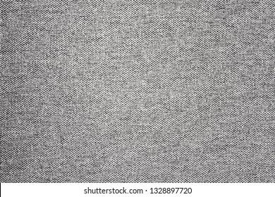 White gray fabric closeup macro pattern. Burlap material detailed background.