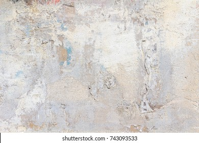 White and gray peeling plaster Background Texture