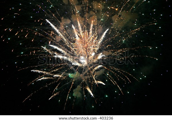 White and Green Fireworks_1