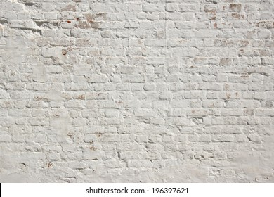 White grunge brick wall.  Background, with space for text or image.