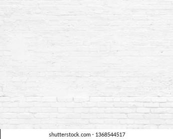 WHITE GRUNGE BRICK WALL VINTAGE STYLE