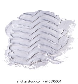 white grunge brush strokes paint on WHITE  background