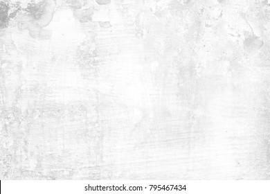 White Grunge Peeling Painted Concrete Texture Background.