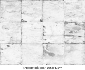 White grunge tile wall