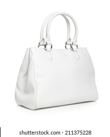 White Handbag isolated
