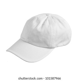 white hat isolated on a white background