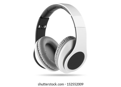 White headphone with black center