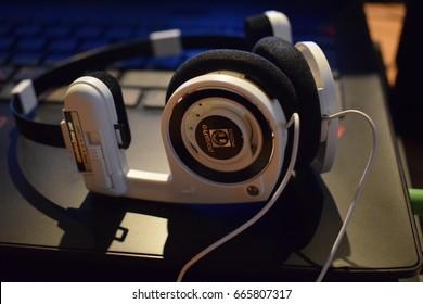 White headset from Koss Porta Pro