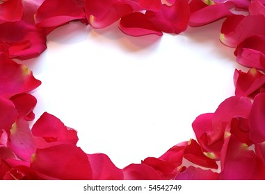 White Heart - Blank for your copy- made from rose petals.