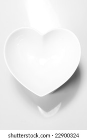 White heart on white ground