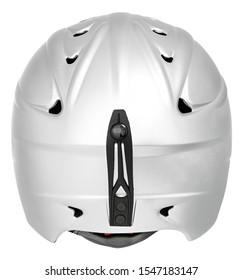 White helmet adventure cycling skiing