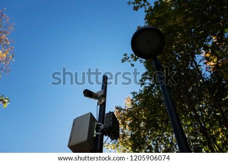 white hidden surveillance camera
