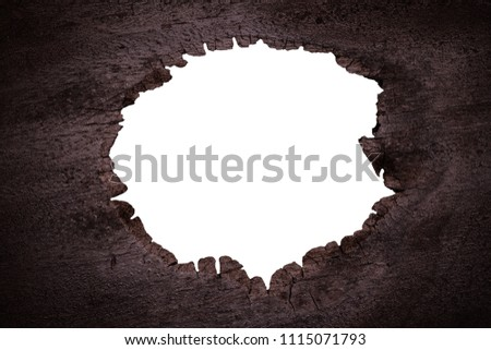White Hole Frame Brown Black Burned Stock Photo (Edit Now ...