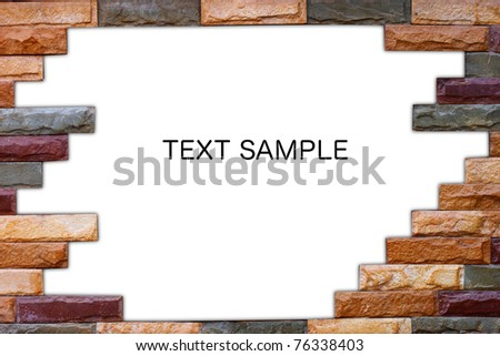 White Hole Old Wall Brick Frame Stock Photo (Edit Now) 76338403 ...