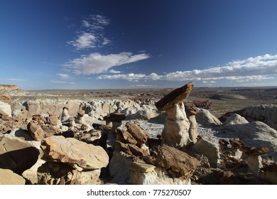 White Hoodoo, Toadstool Hoodoo, Rimrocks, Grand Staircase Escalante National Monument, GSENM, Utah, USA