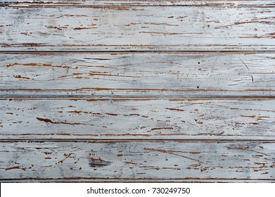 White horizontal wood texture background. Painted old.