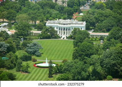 White House Aerial View from the top of Washington Monument, Washington DC, USA