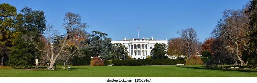 The White House in autumn - Washington DC United States