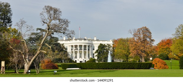 The White House in autumn, Washington DC United States