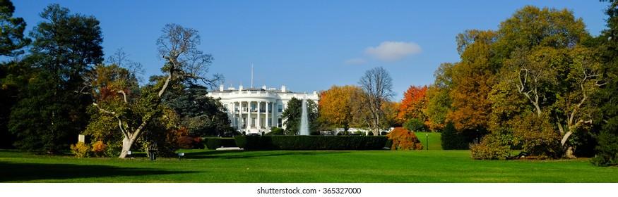 The White House in Autumn - Washington DC, United States