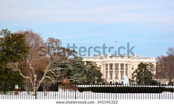 Christmas Time In Washington Dc.White House Christmas Time Washington Dc Stock Photo Edit