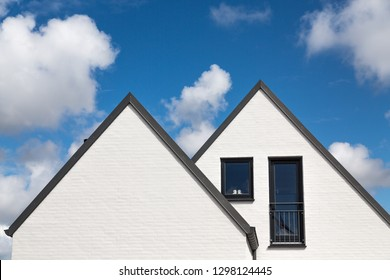 white house with double gable