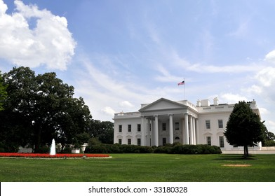 The White House and its front lawn are seen here on U.S. Independence Day, July 4, 2009.
