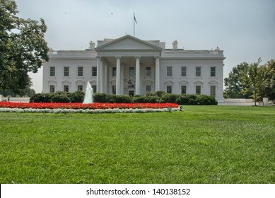 The White House and its gardens -  Washington, DC.